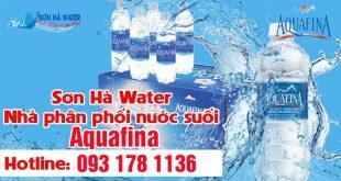 Đại lý giao thùng nước Aquafina Sơn Hà Water
